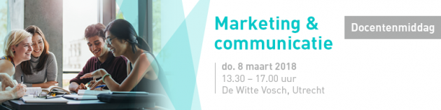 Programma Docentenmiddag Marketing en communicatie 2018 grotendeels bekend